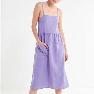 Urban Renewal Remnant Linen Babydoll Midi Dress S